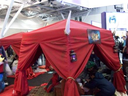 Monster Hunter camp on the expo floor