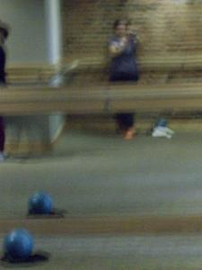 Blury Barre selfie